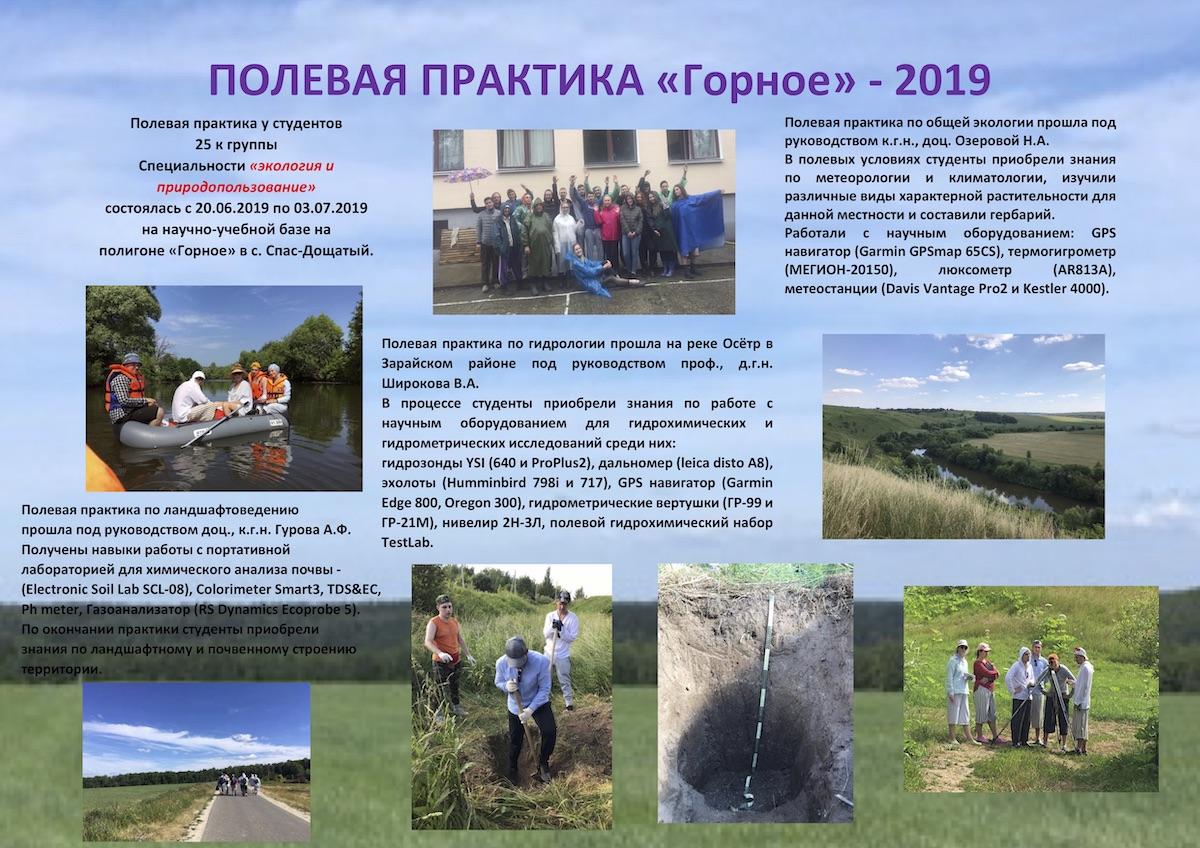 ПОЛЕВАЯ ПРАКТИКА «Горное» - 2019